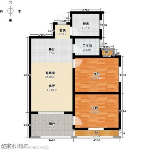 国际时代广场2室0厅1卫1厨100.00㎡户型图