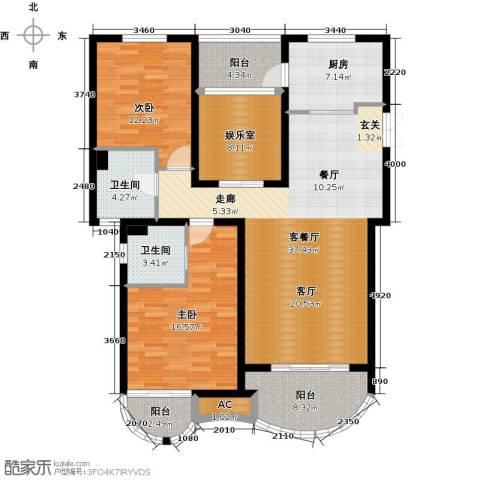 郦城国际2室1厅2卫1厨150.00㎡户型图