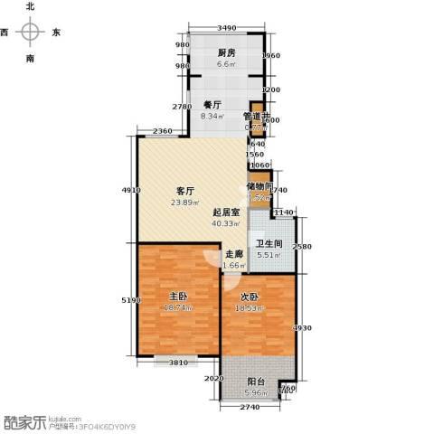 锦绣华城2室0厅1卫0厨91.00㎡户型图
