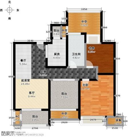 中海御景湾2室0厅1卫1厨90.00㎡户型图