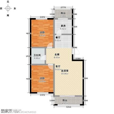 瑞合领秀恋恋山城2室0厅1卫1厨110.00㎡户型图