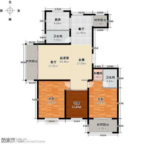 花样年华3室0厅2卫1厨188.00㎡户型图