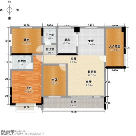 新地东方明珠2室0厅2卫1厨114.00㎡户型图