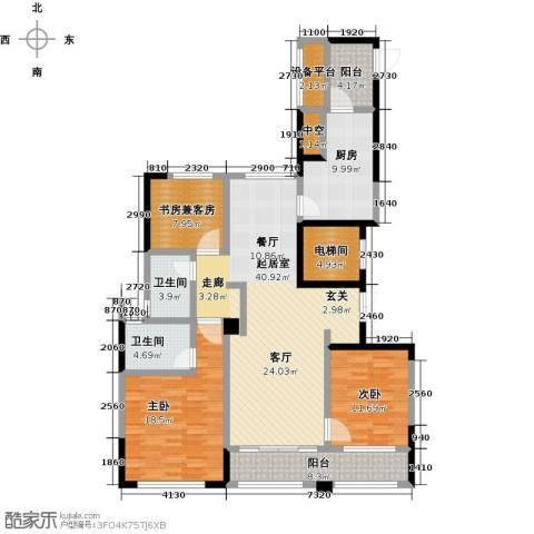 荣安心居2室0厅2卫1厨172.00㎡户型图