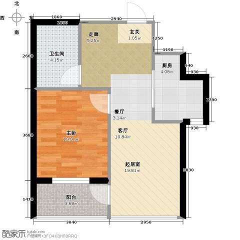 万锦民悦1室0厅1卫1厨55.00㎡户型图