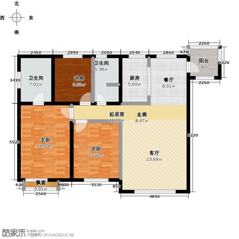 太阳海131.00㎡太阳海131.00㎡3室1厅2卫户型3室1厅2卫