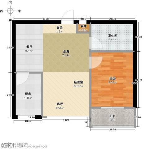 万锦民悦1室0厅1卫1厨50.00㎡户型图