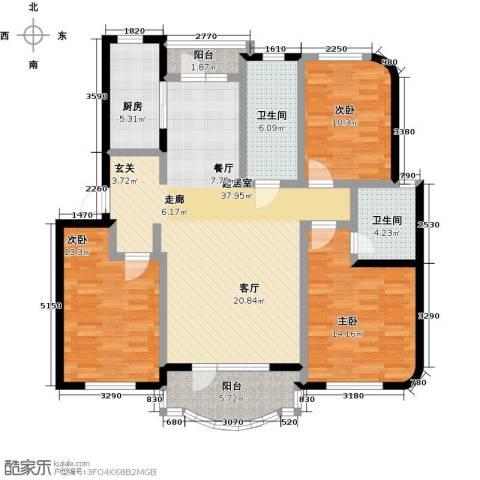 半岛印象3室0厅2卫1厨144.00㎡户型图