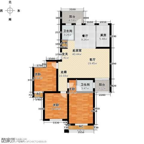 国际时代广场3室0厅2卫1厨145.00㎡户型图