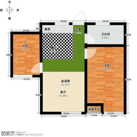 玩美天地2室0厅1卫0厨75.00㎡户型图