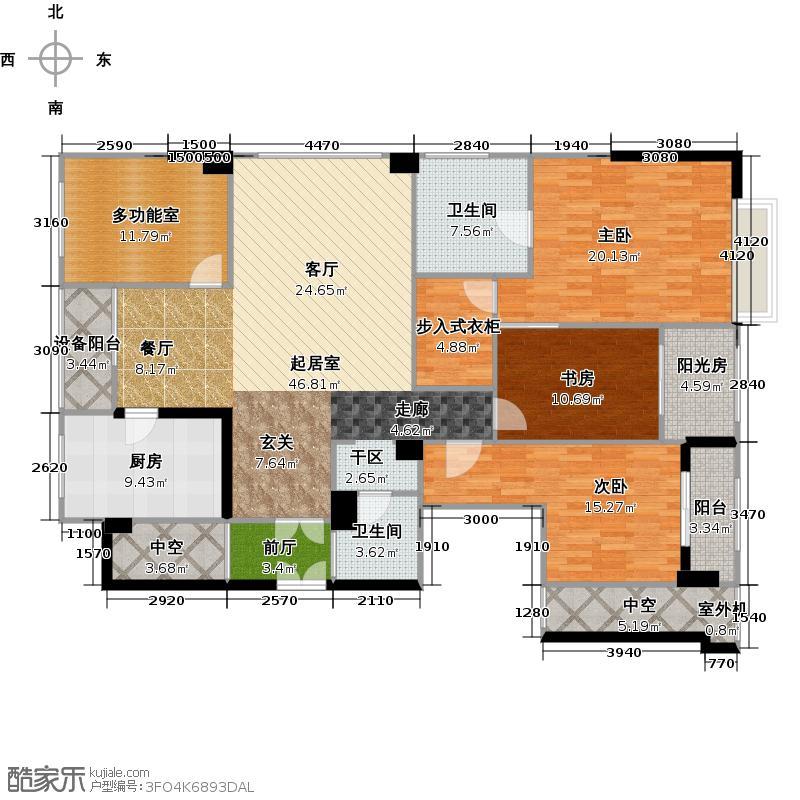 海顿公馆F户型-约172平方米户型