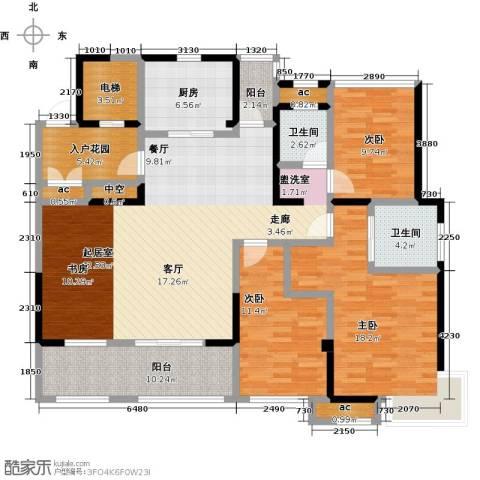山湖湾3室0厅2卫1厨141.00㎡户型图