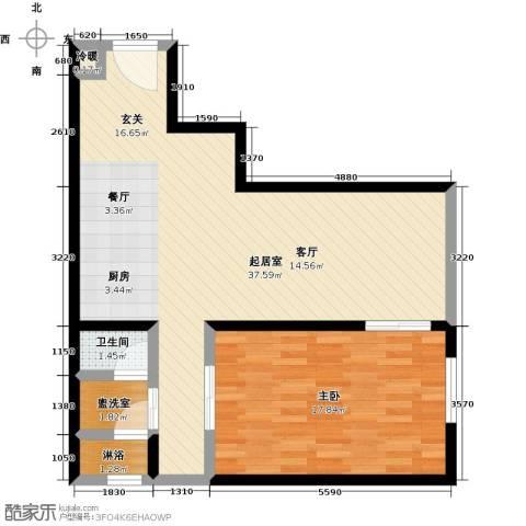 晋合公寓1室0厅1卫0厨69.00㎡户型图