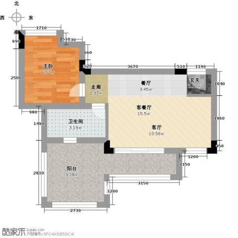 汇祥云深处1室1厅1卫0厨41.00㎡户型图