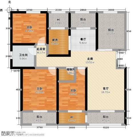 荣华世家3室0厅1卫1厨125.00㎡户型图
