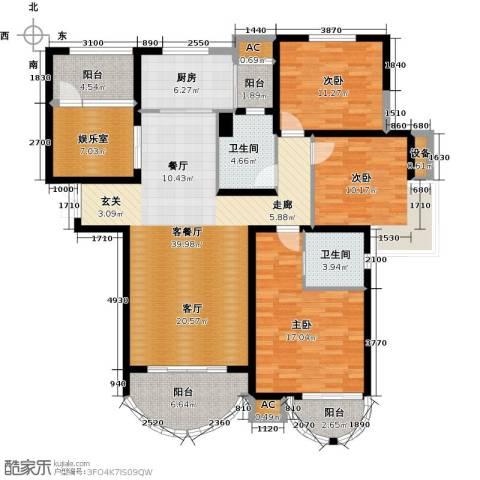 郦城国际3室1厅2卫1厨171.00㎡户型图