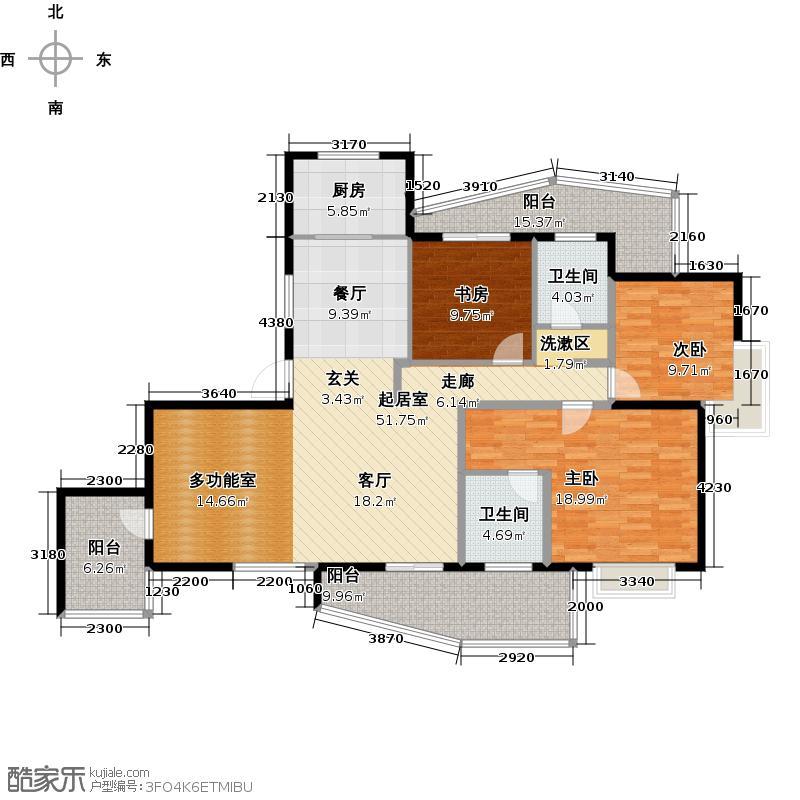 和达和城145.00㎡高层7号、8号、9号楼C2户型3室2厅2卫