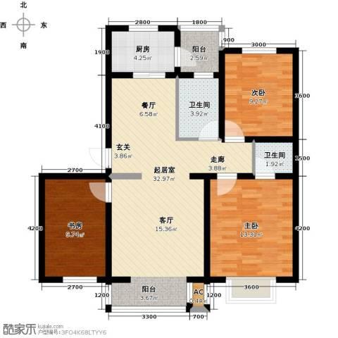 兴盛景悦蓝湾3室0厅2卫1厨114.00㎡户型图
