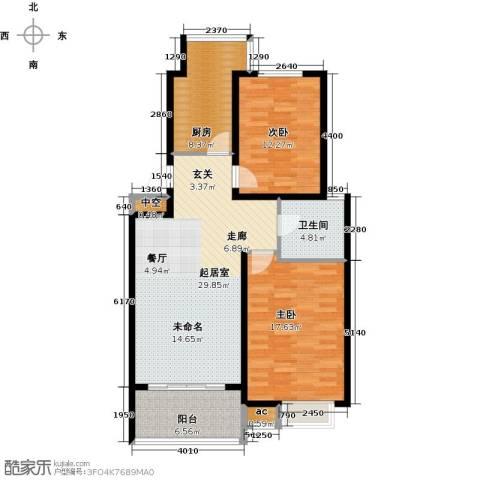 凤凰花园2室0厅1卫1厨92.00㎡户型图