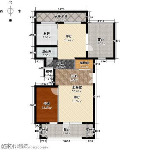 永定河孔雀城铂宫1室0厅1卫1厨150.00㎡户型图