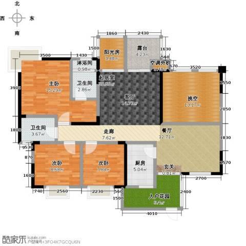 筑境100二期3室0厅2卫1厨155.00㎡户型图