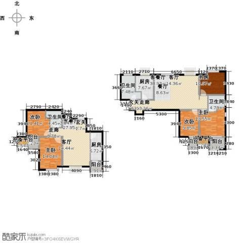 明湖・白鹭郡5室2厅3卫2厨169.90㎡户型图
