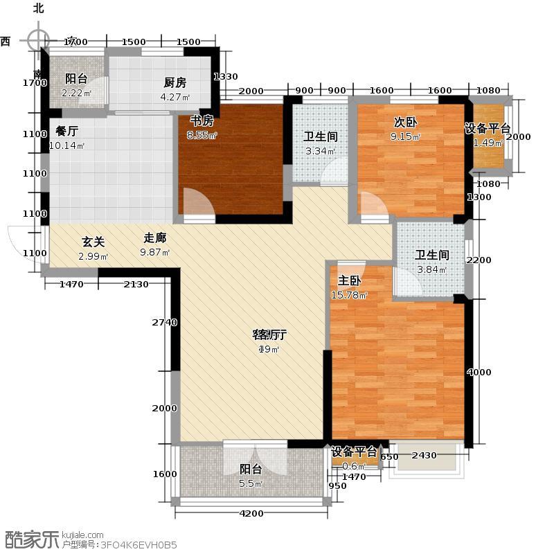 南德国际城3号楼 D6户型