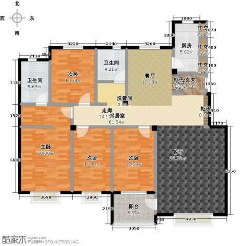 利丰花园4室0厅2卫1厨165.00㎡户型图