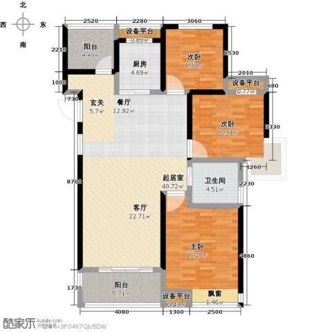 中铁诺德誉园3室0厅1卫1厨113.00㎡户型图