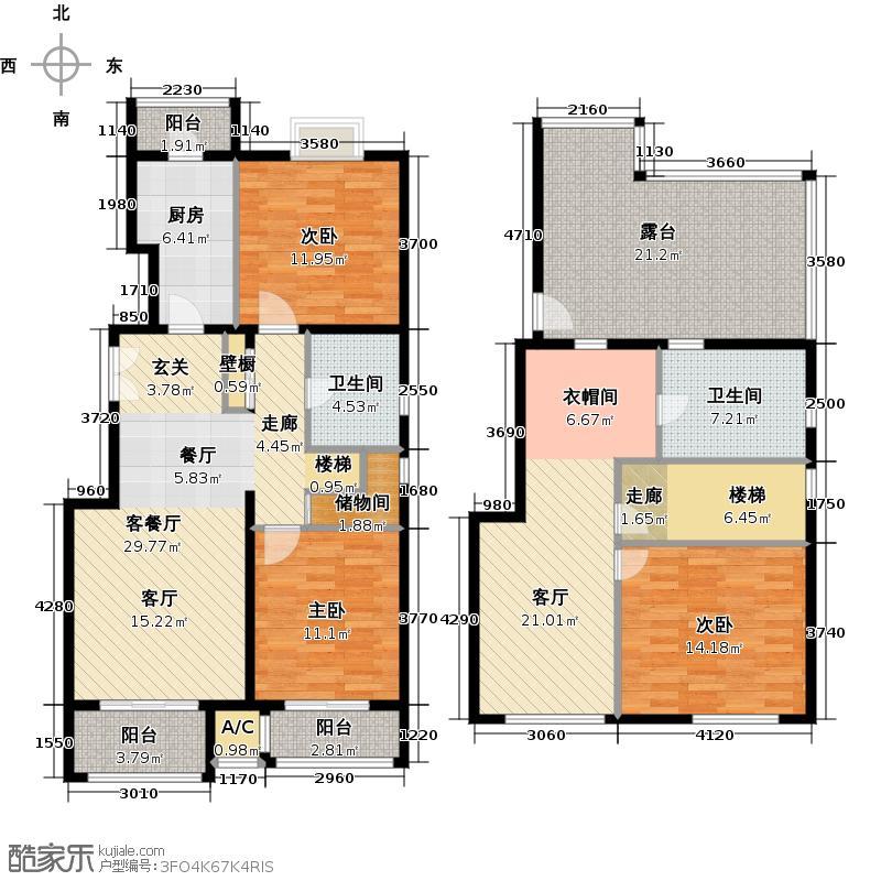 住总尚清湾163.42㎡花园洋房C5户型3室3厅2卫