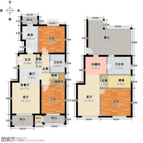 住总尚清湾3室2厅2卫1厨163.00㎡户型图