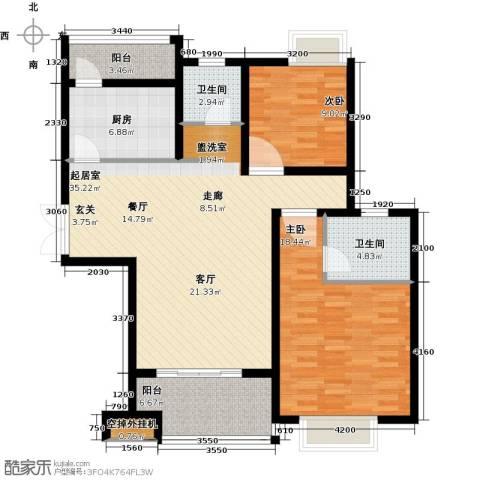 商城凤凰印象2室0厅2卫1厨101.00㎡户型图