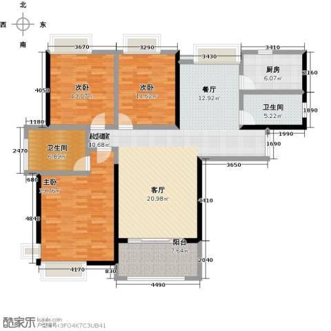 国贸天琴湾3室0厅2卫1厨132.00㎡户型图