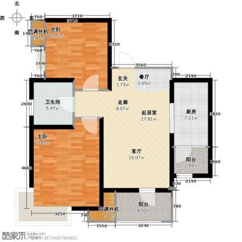 欧铂城2室0厅1卫1厨92.00㎡户型图