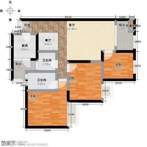 汇通大厦3室0厅2卫2厨110.00㎡户型图