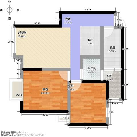 汇通大厦2室0厅1卫1厨75.00㎡户型图