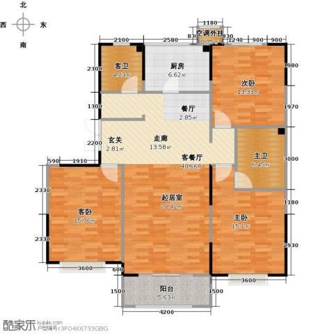 卫津领寓3室1厅0卫1厨138.00㎡户型图