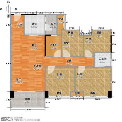 大自然广场1室0厅2卫1厨101.00㎡户型图