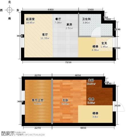 中海・御湖翰苑1室0厅1卫0厨51.00㎡户型图