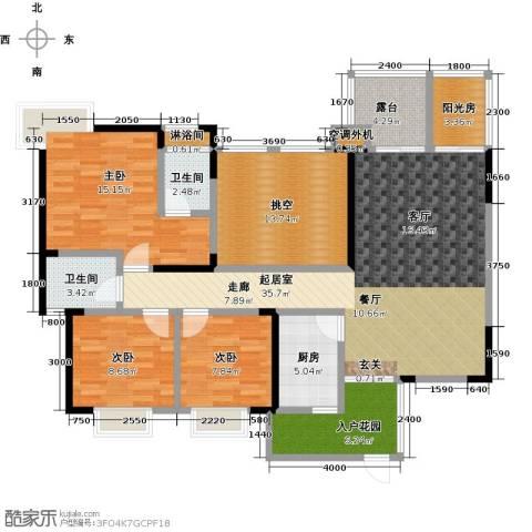 筑境100二期3室0厅2卫1厨153.00㎡户型图