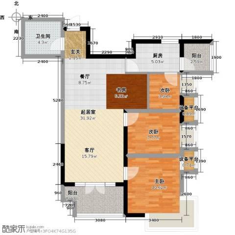 星耀五洲3室0厅1卫1厨99.00㎡户型图