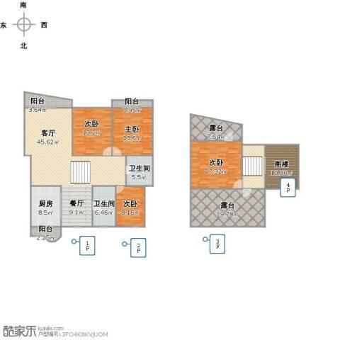 昌鑫家园4室1厅2卫1厨227.00㎡户型图