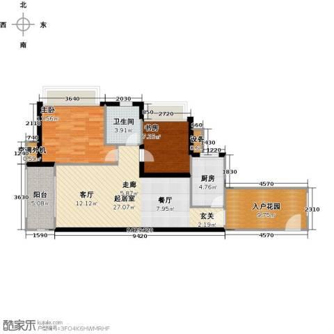 富川瑞园2室0厅1卫1厨80.00㎡户型图
