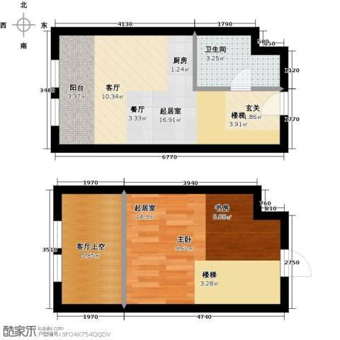 中海・御湖翰苑1卫0厨58.00㎡户型图