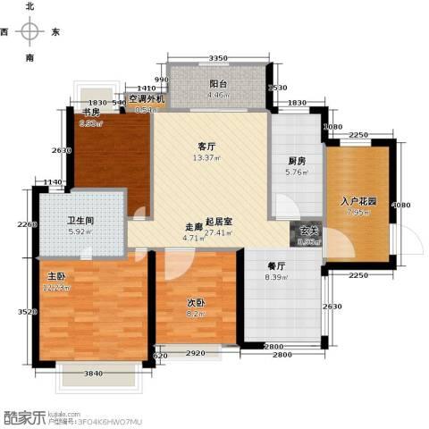富川瑞园3室0厅1卫1厨94.00㎡户型图