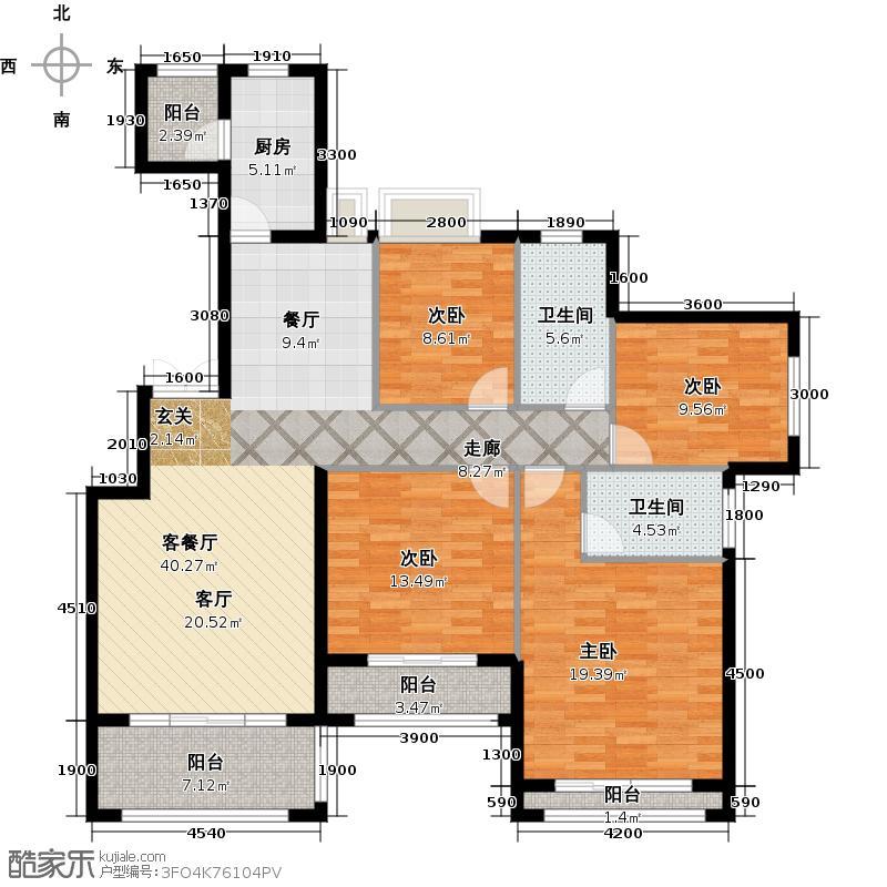 海泉湾港中旅公馆户型4室1厅2卫1厨