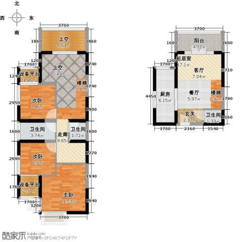 星耀五洲3室0厅3卫1厨106.00㎡户型图