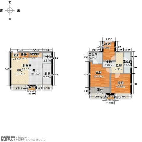 星耀五洲3室0厅3卫1厨130.00㎡户型图