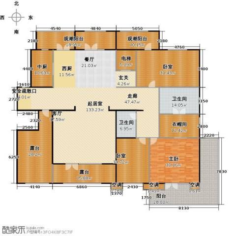 孔雀城大湖1室0厅2卫0厨367.86㎡户型图
