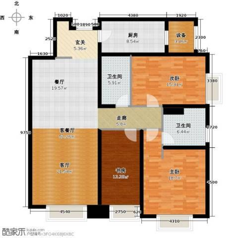 天津大都会3室1厅2卫1厨213.00㎡户型图